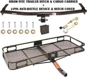Trailer Hitch Fits 01 06 Acura Mdx Cargo Basket Carrier Silent Pin Lock Tow