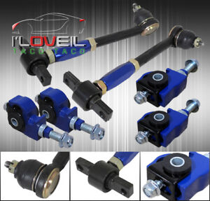 90 97 Accord Cb Cd Front Rear Camber Kit Blue Adjustable Suspension Link Arm