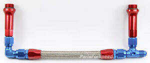 Braided Stainless Fuel Line 6 An For Holley Ultra Hp And Ultra Xp Carbs