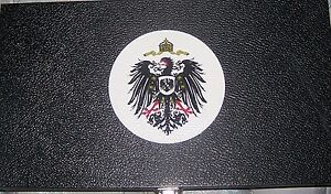 Royal German Prussian Kaiser Empire War Eagle Display Box Case Medal Pin Badge
