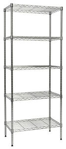 Apollo Hardware Chrome 5 shelf Nsf Wire Shelving Rack With Wheels 14 x24 x60