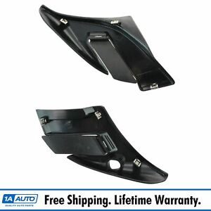 Front Grille Panel End Cap W Flapper Driver Passenger Side Pair For Gm Truck