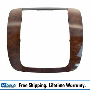 Oem Instrument Radio Trim Bezel Gaston Walnut For Silverado Sierra Tahoe New