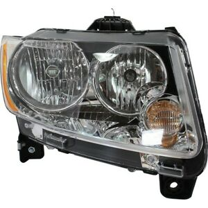 Headlight For 2011 2012 2013 Jeep Compass Right Clear Lens With Bulb