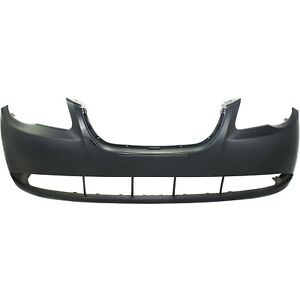 Front Bumper Cover For 2007 2010 Hyundai Elantra W Fog Lamp Holes Primed