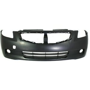 Front Bumper Cover For 2008 2009 Nissan Altima Coupe W Fog Lamp Holes Primed
