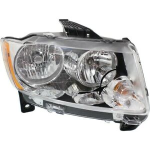 Headlight For 2011 2012 2013 Jeep Grand Cherokee Right Chrome Housing With Bulb