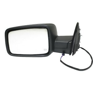 Mirror For 2013 2018 Ram 1500 2500 Manual Folding Textured Black Front Left