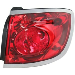 Tail Light For 2008 2012 Buick Enclave Right Outer Halogen With Bulb