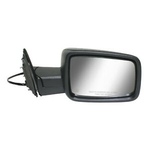 Mirror For 2013 2018 Ram 1500 2500 Manual Folding Textured Black Front Right