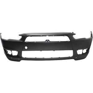 Bumper Cover For 2008 2015 Mitsubishi Lancer Front Plastic With W Air Dam Holes