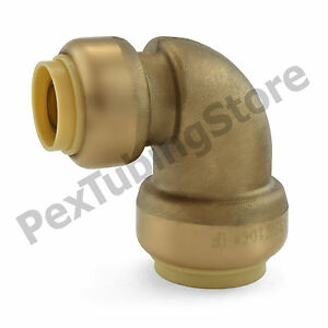 25 3 4 X 1 2 Sharkbite Style push fit Push To Connect Lf Brass Elbows