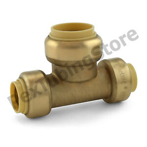 25 1 2 X 1 2 X 3 4 Sharkbite Style push fit Push To Connect Lf Brass Tees