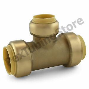 1 X 1 X 3 4 Sharkbite Style push fit Push To Connect Lead free Brass Tee