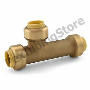 10 1 2 Sharkbite Style push fit Push To Connect Lead free Brass Slip Tees