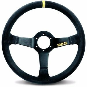 Sparco Steering Wheel Racing R345 350mm 63mm Dish suede 015r345msn Free Shiping