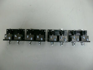 Lot Of 8 Fabco Air Fps 1614 Actuator Index Assembly Cylinders On Mounting Plates