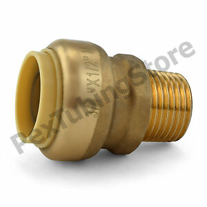 25 3 4 Sharkbite Style Push fit X 1 2 Mnpt Lf Brass Male Threaded Adapters