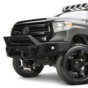 For Toyota Tundra 14 19 Br5 Replacement Full Width Black Front Winch Hd Bumper