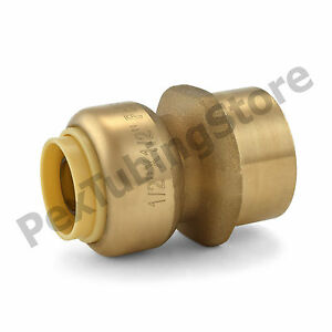 25 1 2 Sharkbite Style Push fit X 1 2 Fnpt Lead free Brass Fnpt Adapters