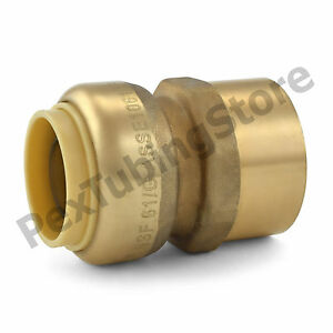 25 3 4 Sharkbite Style Push fit X 3 4 Fnpt Lead free Brass Fnpt Adapters