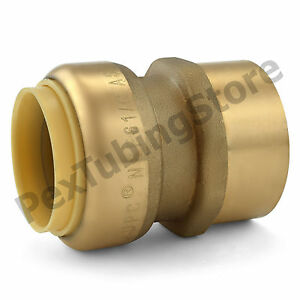 10 1 Sharkbite Style Push fit X 1 Fnpt Lead free Brass Fnpt Adapters