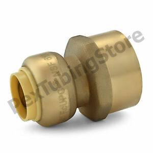 25 1 2 Sharkbite Style Push fit X 3 4 Fnpt Lead free Brass Fnpt Adapters