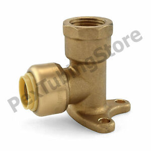 10 3 8 Sharkbite Style Push fit X 3 8 Fnpt Lf Brass Fnpt Drop Ear Elbows