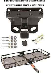 06 10 Jeep Commander Trailer Hitch Cargo Basket Carrier Silent Pin Lock Tow