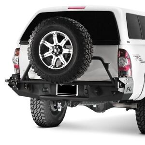 For Toyota Tacoma 05 15 Fab Fours Premium Full Width Black Rear Hd Bumper