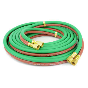 1 4 In X 100 Ft Grade R Twin Gas Welding Hose 200 Psi W p Hw44 100