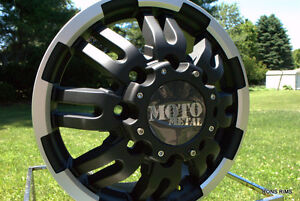 4 Moto Metal Black Machined 963 Dually 16 X 6 Ford Chevy Dodge Gmc Rims Lugs