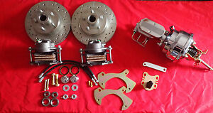 1957 1964 Ford Full Size Galaxie Front Disc Brake Conversion Chrome Booster