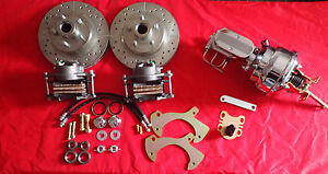 1957 1964 Ford Fullsize Galaxie Front Disc Brake Conversion Chrome Booster
