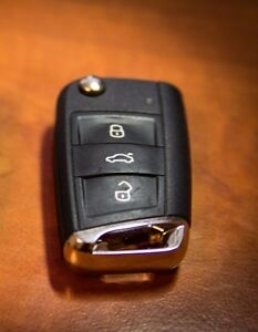 Genuine Volkswagen Mk7 Golf Sv Polo Vw Chrome Chromed Key Cap