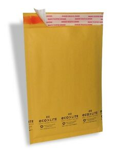 25 0 6 5x10 Ecolite Kraft Bubble Mailers Padded Envelopes Cd Dvd Theboxery