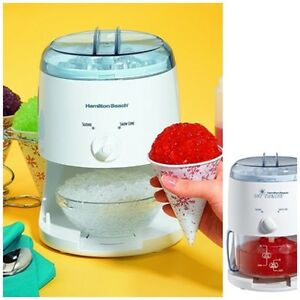 Mini Electric Crusher Shaved Ice Shaver Snow Cone Machine Maker Icy Treats Kids