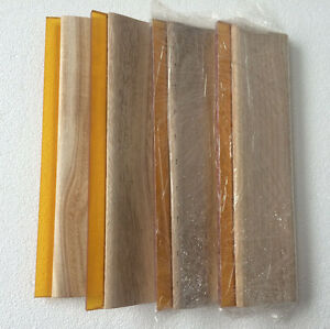 4pcs Screen Printing 13 Oiliness Squeegee 75 Durometer 33cm Ink Blade