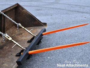 Bucket Bale Spear For Round Square Hay Bales 2 X 49 Prongs