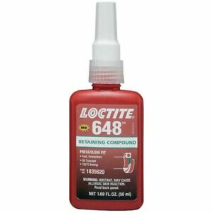 Loctite 50 Ml 648 General Purpose High Strength Retaining Compound