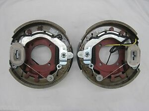 Electric Trailer Brakes Assembly 4 Hole For 8000 Axle 12 1 4 x3 3 8 Lh