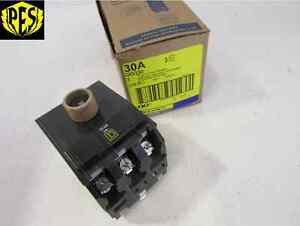 New Square D Qo Qo330 3 Pole 30 Amp Breaker 3p 30a 240v Qo Fits Nq Nib