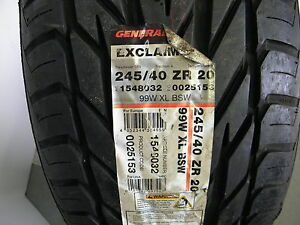 General Exclaim Uhp 245 40r20 Tire New Qty 1 Ccc 27