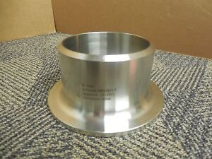 No Name 4 Stub End Slip On Butt Weld Fitting 316 Stainless S s Schedule 40 New