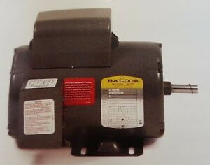 New Baldor Electric Motor Single Phase 3 4 Hp 1725 Rpm C face Open Drip Proof