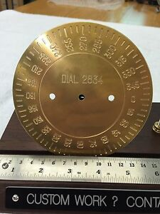 Brass Engraving Plate For New Hermes Font Tray Instrument Dial D