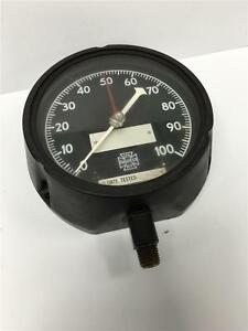 1942 Wwii Us Gauge Co Ny Military Pneumatic Pressure Gauge 0 100 4 1 2ad 8658
