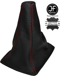 Red Stitch Fits Toyota Celica 1985 1989 Real Black Leather Shift Boot