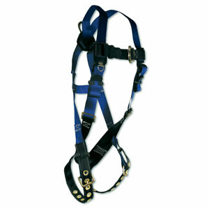 Fall Tech Contractor Series Safety Harness 1 D ring T B Legs Universal