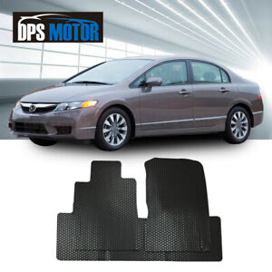 All Weather Black Rubber Floor Mats Liner Front Rear For 06 11 Honda Civic 4d
